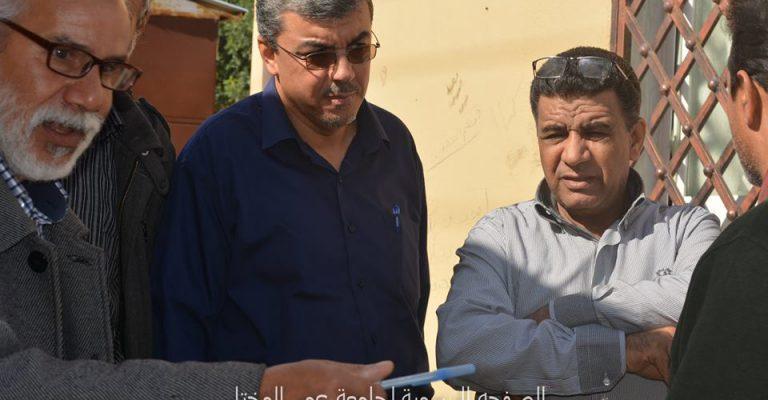 اجتماع الكاتب العام مع عدد من مدراء الإدارات والمكاتب بمجمع شهداء الجبل