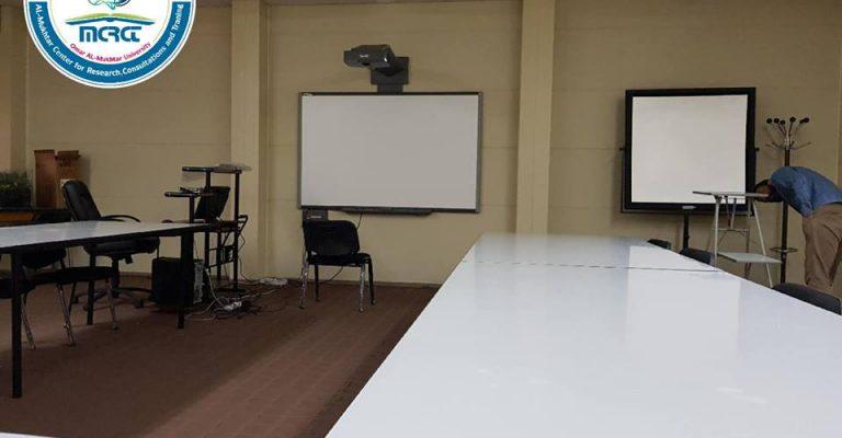 البدء في تعليم اللغة الانجليزية بمركز المختار للبحوث بجامعة عمر المختار