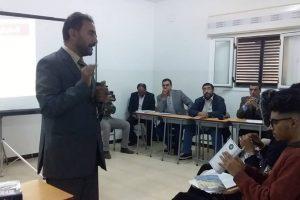 برنامج تثقيفي لطلبة كلية الآداب والعلوم بجامعة عمر المختار فرع القبة.