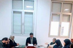 اجتماع مجلس كلية الطب البيطري بجامعة عمر المختار.