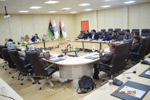 اجتماع منسقي مكتب ضمان الجودة وتقييم الأداء بالجامعة .
