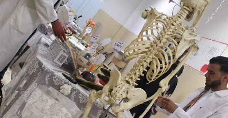 جانب من فعاليات معرض قسم الأحياء بكلية التربية ضمن مهرجان المختار للثقافة والعلوم 2019م
