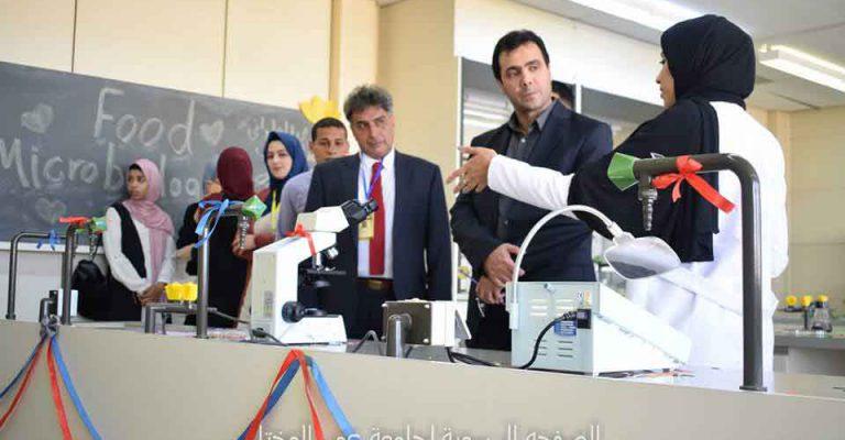 جانب من فعاليات معرض قسم علوم الأغذية بكلية الزراعة ضمن مهرجان المختار للثقافة والعلوم 2019م