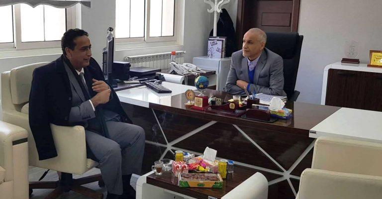 لقاء الأستاذ الدكتور/ رئيس الجامعة مع السيد المستشار / عميد بلدية درنة