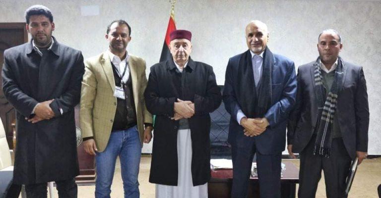 جامعة عمر المختار فى لقاء مع المستشار عقيلة صالح رئيس مجلس النواب