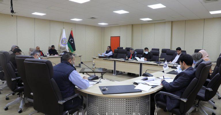 الاجتماع الثاني للجنة المشكلة بقرار السيد/ أ.د رئيس جامعة عمر المختار رقم (236) لسنة 2021م