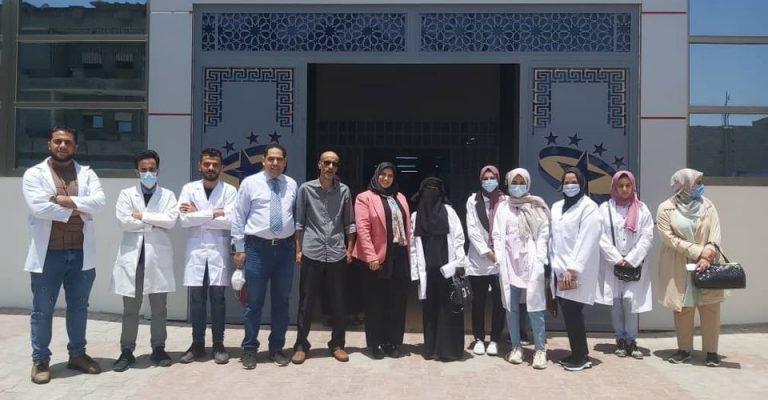 بداية برنامج التدريب العملي لطلاب السنة الرابعة بكلية التقنية الطبية.