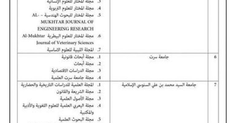 وضيح عن لجنة إعتماد وضمان جودة المجلات العلمية المحكمة