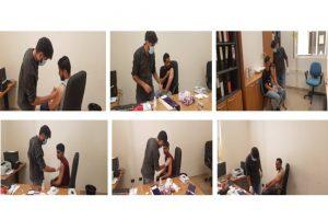 جانب من استمرار حملة التطعيم بعدد من كليات جامعة عمر المختار.