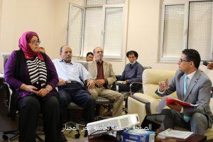 زيارة اللجنة المكلفة من وزارة التعليم العالي والبحث العلمي لجامعة عمر المختار