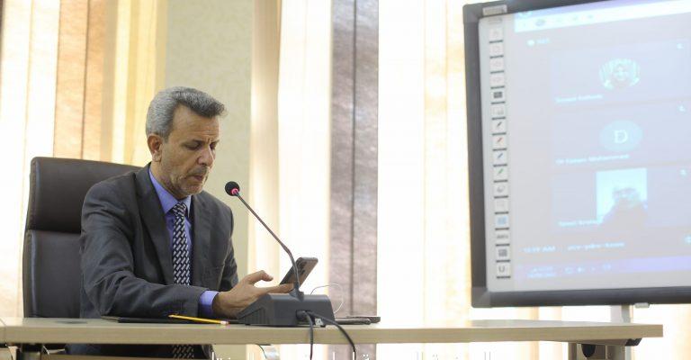 مراسم التوقيع الالكتروني بين جامعة عمر المختار ومنظمة الصداقة الدولية